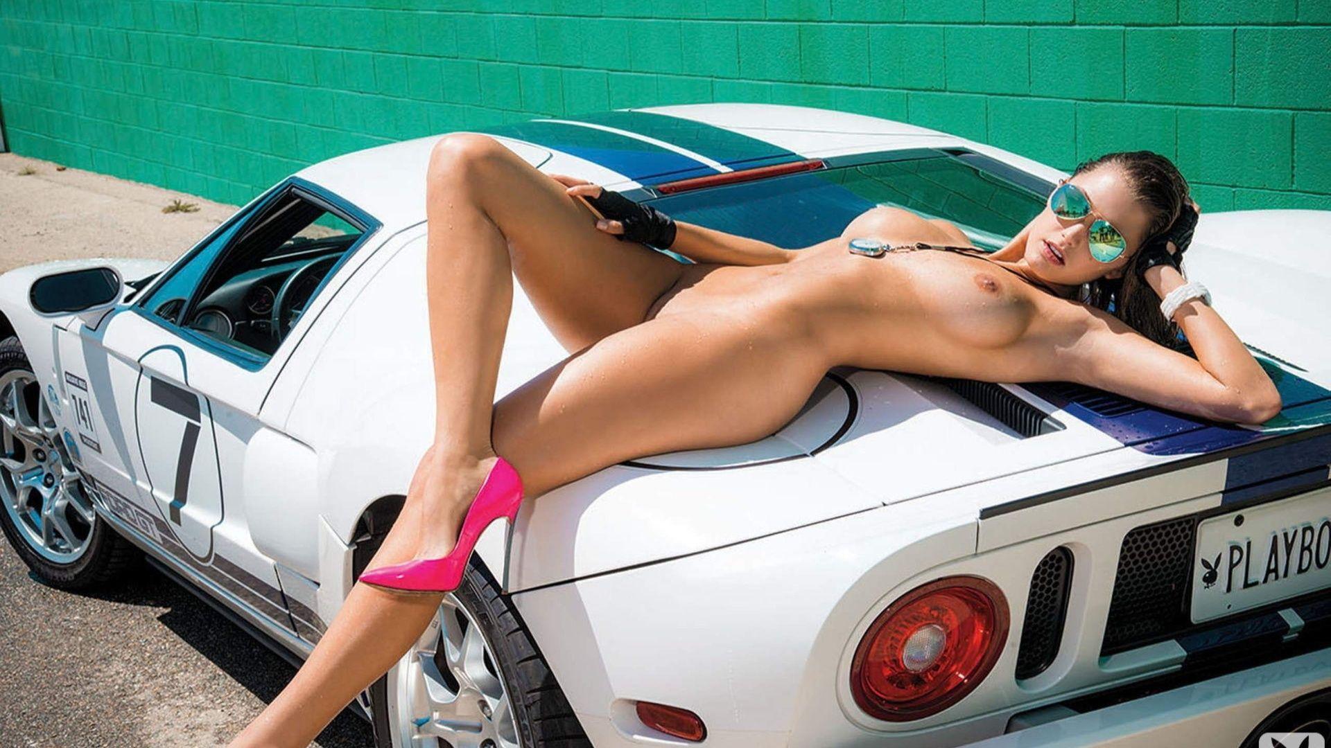 Nude On Car 63