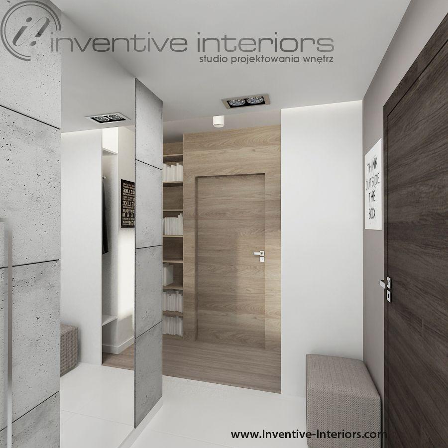 Projekt Mieszkania Inventive Interiors Lustro Beton Białe