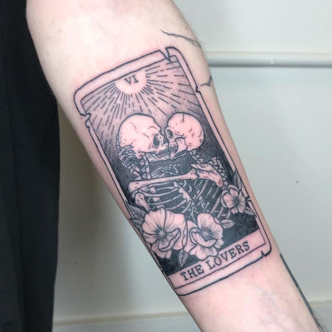 I love doing tarot cards thank you daniel tattoos