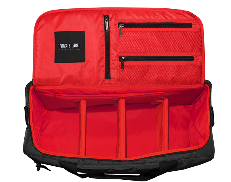 Black / red duffle Bags, Black, Carry on bag