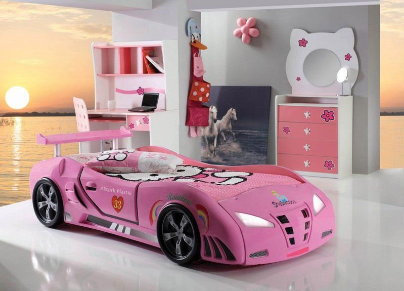 Girls Car Bed In 2019 Kids Bed Design Kid Beds Bunk Bed