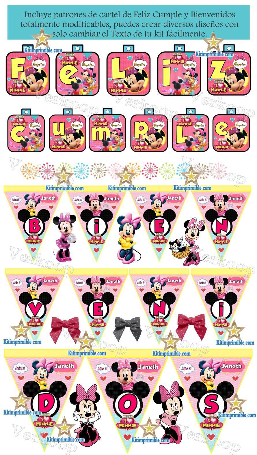 Kit imprimible minnie mouse en la casa de mickey mouse - Casa de minnie mouse ...