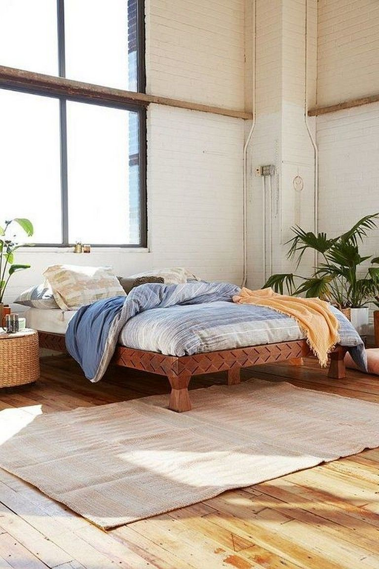 30 Comfy Chic Bohemian Platform Bed Design Ideas From Wood Wood