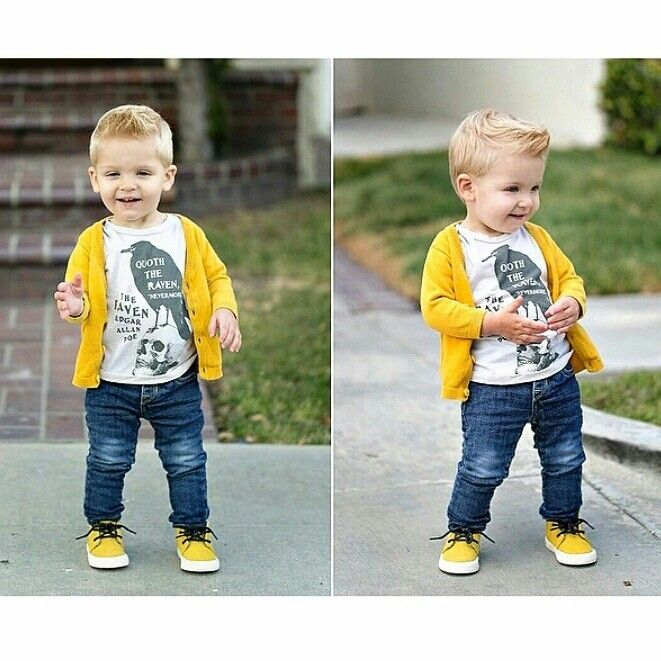 Kid Haircuts With Outfit: Totally Adorable Boys' Outfit Inspiration