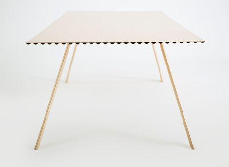 Ripple Table By Benjamin Hubert