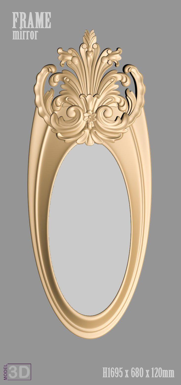 A1087. Mirror Frame 3d models for cnc | 3d model in 2018 | Pinterest ...