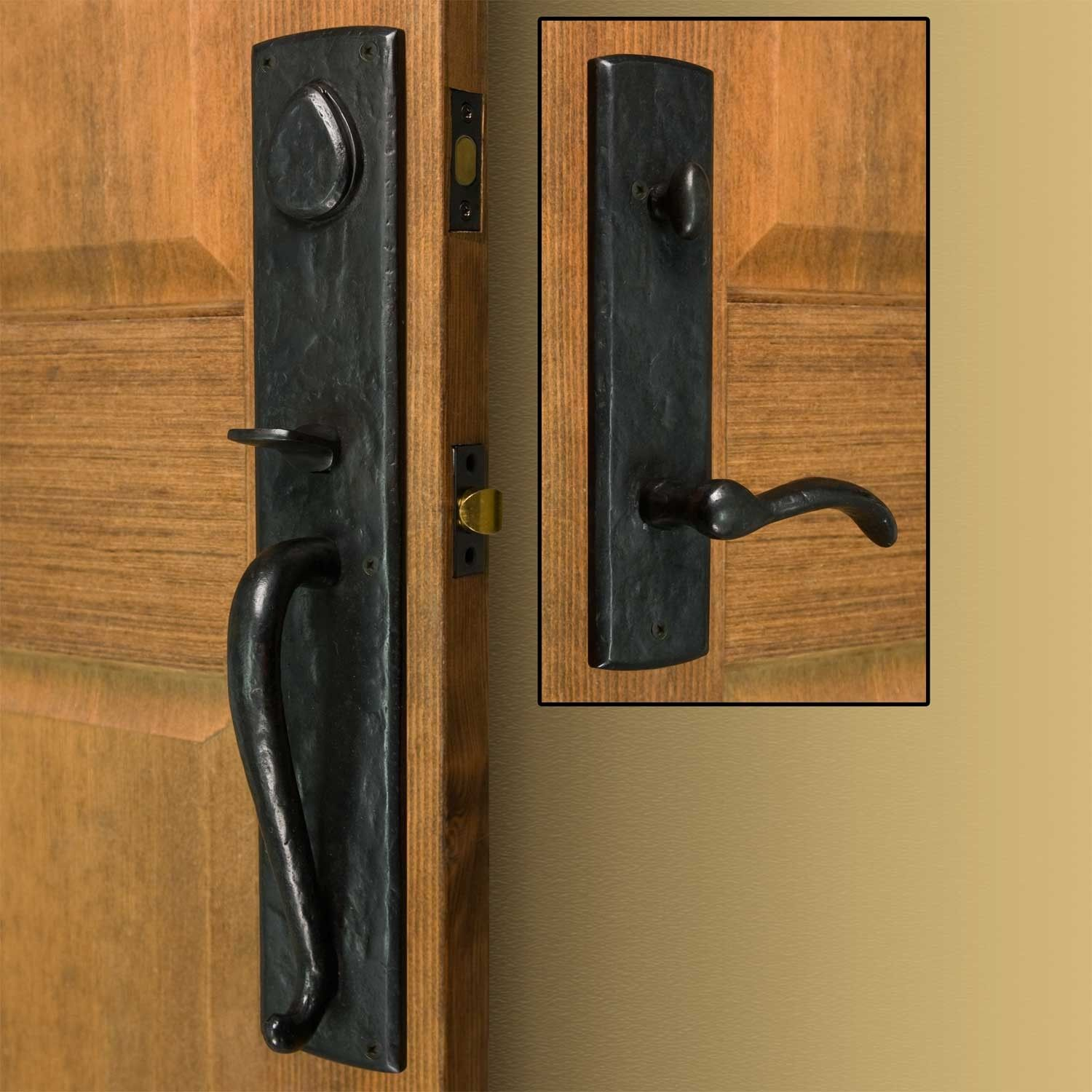 Bullock Solid Bronze Entrance Set with Lever