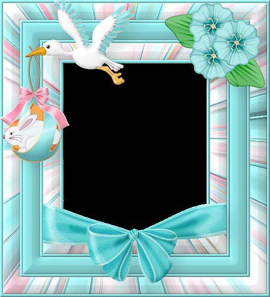 Blue Easter Frame Easter Frame Clip Art Freebies Frame