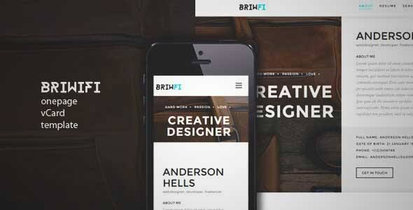 Download And Review Of Briwfi  Onepage Wordpress ResumePortfolio