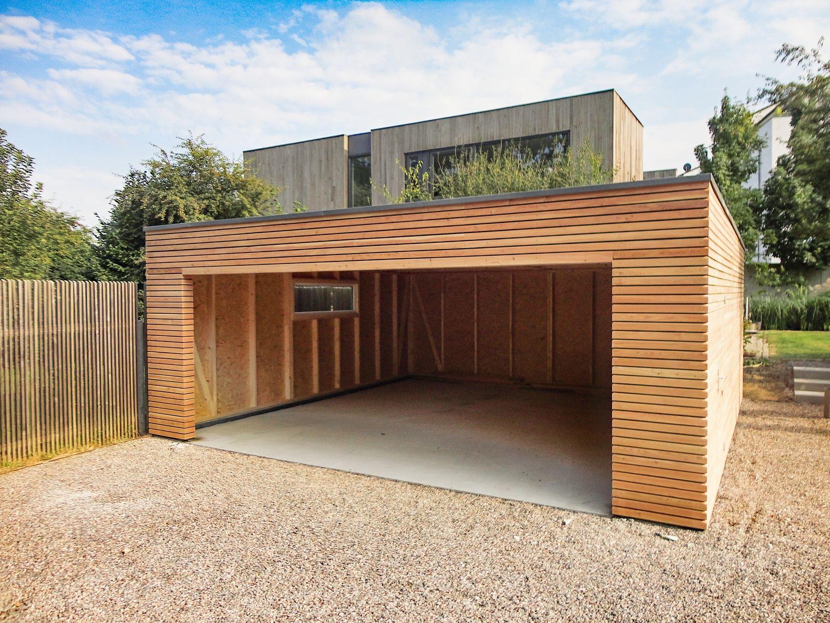 Holzgarage Naturhouse Holzgarage Garage Aus Holz Doppelgarage