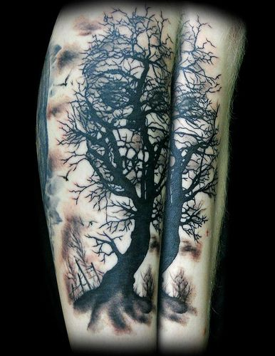 Iink to page with skull tree tat design you'll like
