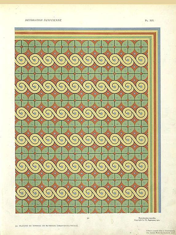 32. Plafond du Tombeau de Pa-Nehasi (Drah-Aboul-Negga) From New York Public Library Digital Collections.