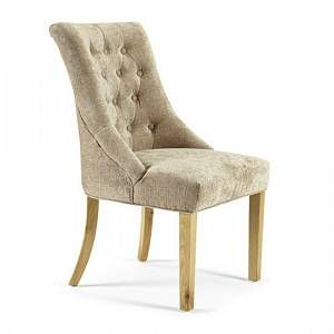 Milena Dining Chair In Mink Fabric With Oak Legs In A Pair In 2020 Dining Chairs Upholstered Dining Chairs Chair