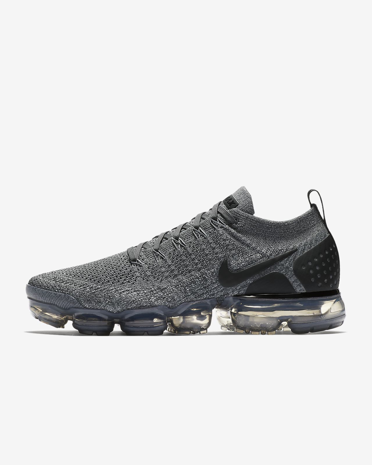 the latest 7dd4c fe30d Mens Nike Air VaporMax Flyknit 2 Running Shoe Dark Grey Wolf Grey Black White  Style  942842-002