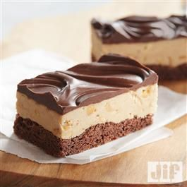 Gluten Free* Chocolate-Peanut Butter Bars recipe from Jif® make a yummy lunchbox treat when the kids head back to school for the New Year!