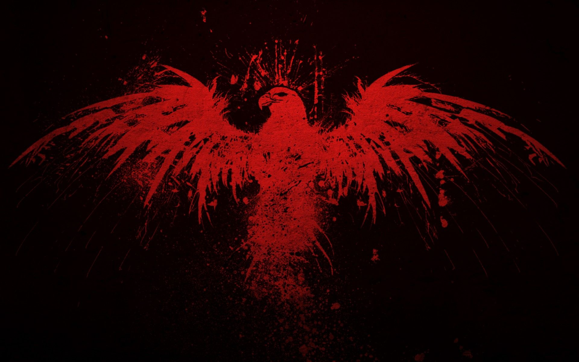 Red Wallpaper Art Findorget 1920x1200px Red Eagle Wallpaper