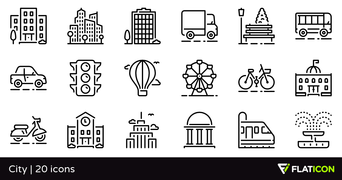 20 Free Vector Icons Of City Designed By Zlatko Najdenovski City Icon Vector Free City Design