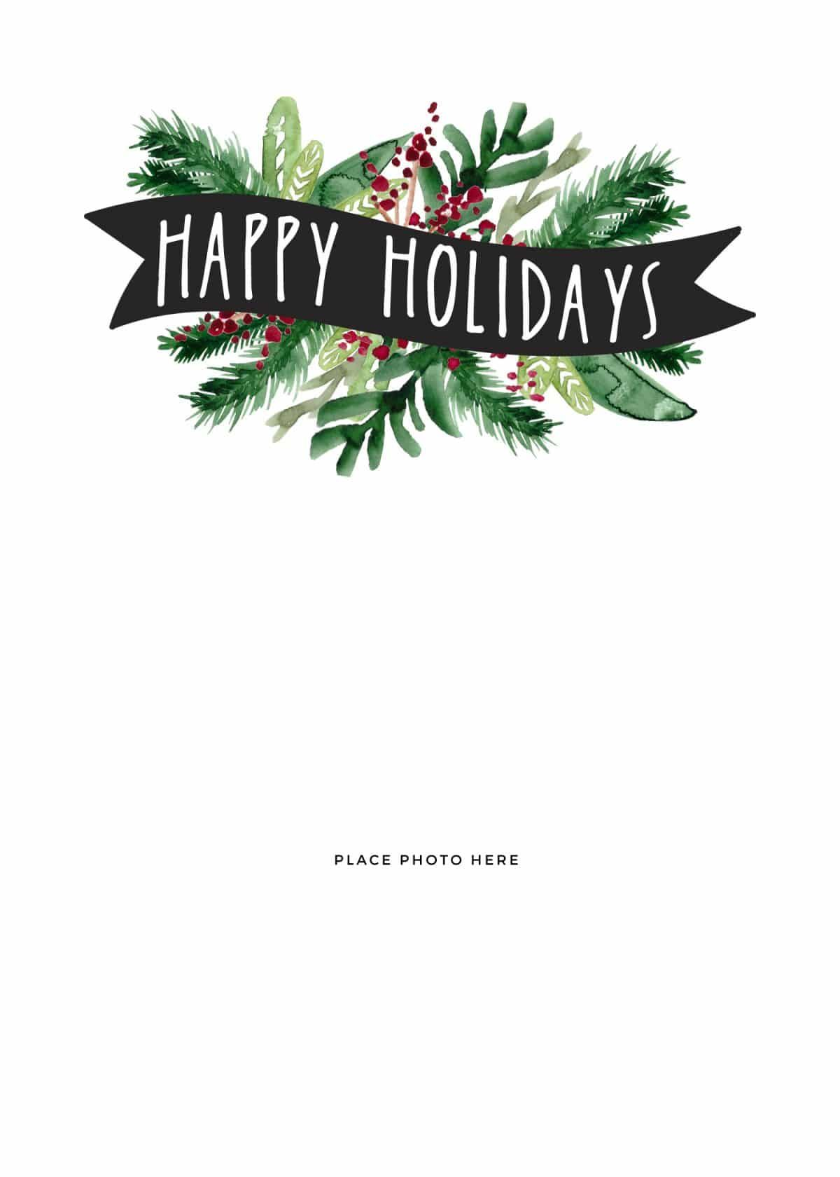 Save Time And Money By Making Your Own Photo Christmas Cards Here Free Holiday Photo Card Templates Christmas Card Templates Free Free Holiday Card Templates