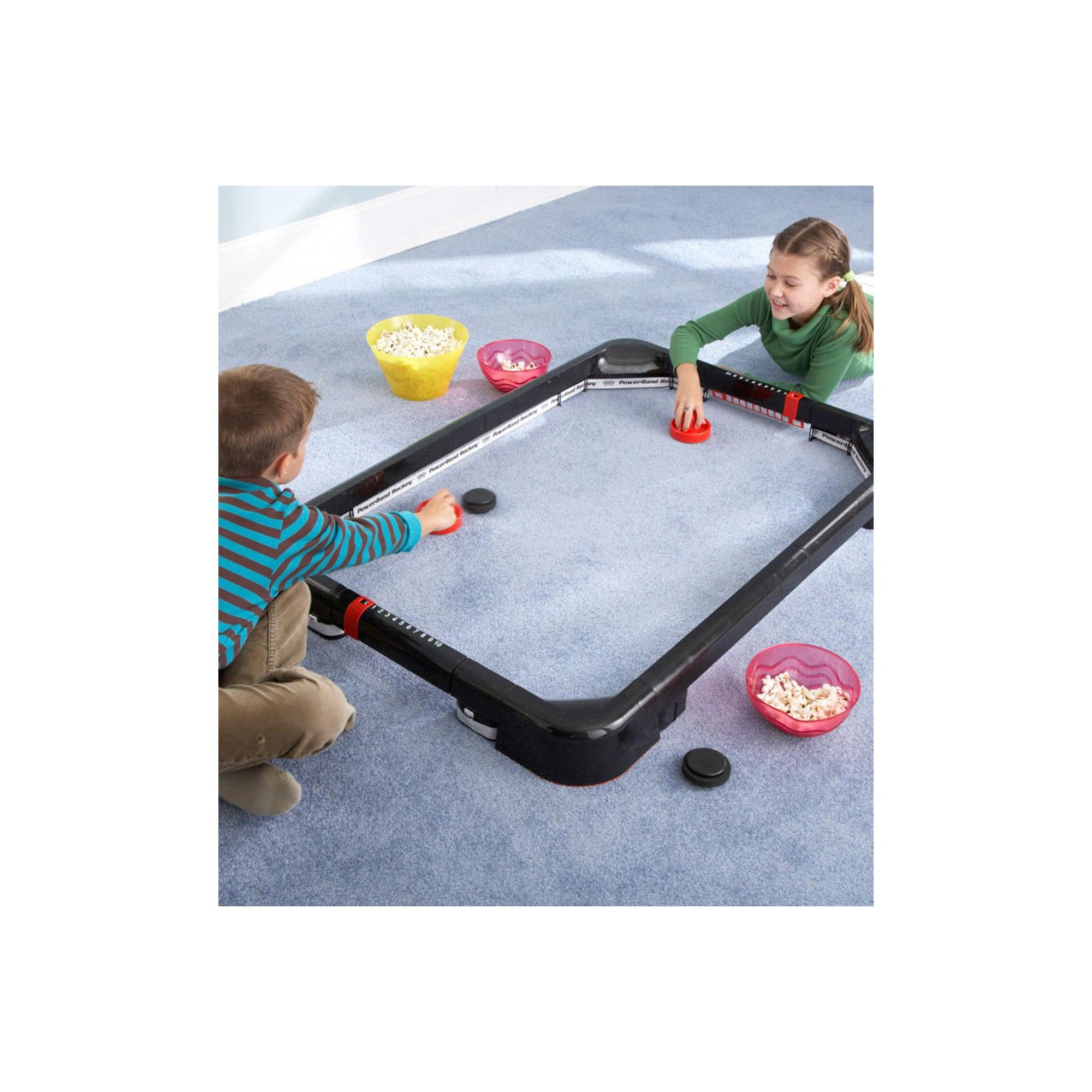 Simtec Powerband Air Hockey Tabletop Game For Kids Hearthsong Air Hockey Tabletop Games Air Hockey Table