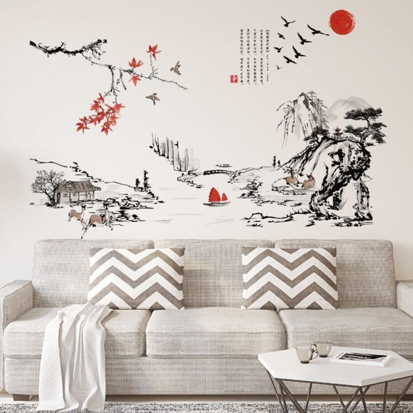 Pas cher DIY Amovible Stickers Muraux de Décalque maison décor salon