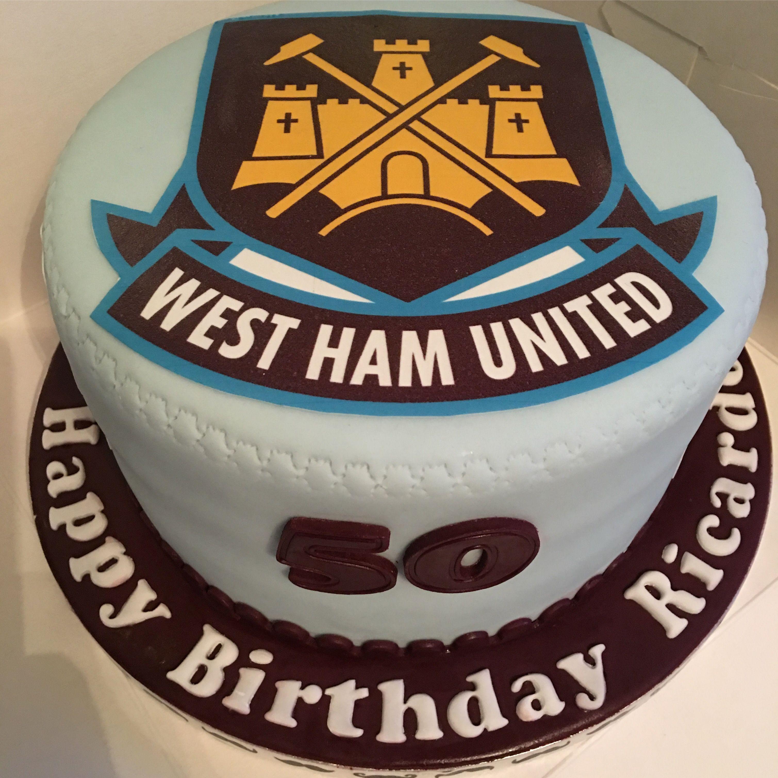 West Ham United Vanilla Cake Cake West Ham Vanilla Cake