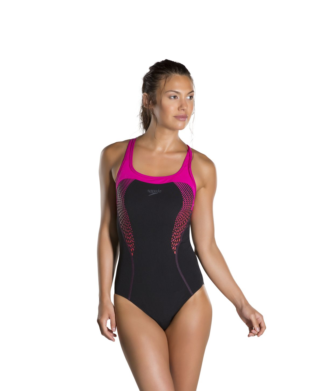 391d3ce72b Speedo Endurance Plus Speedo Fit Kickback Swimsuits Black Lava Red Electric  Pink 8-10367b345