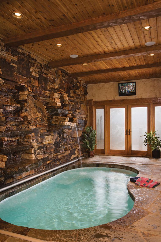 Ein Luxurioses Innenschwimmbad Im Blockbohlenhaus Mochten Sie Ein
