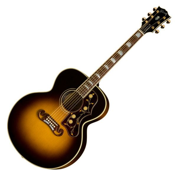 This Stunning Gibson J 200 Electro Acoustic Sports The Iconic Gibson Moustache Bridge Perfect For Movember U Gibson Acoustic Electro Acoustic Guitar Guitar