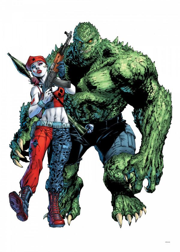 """Official DC Comics Jim Lee Collection Harley & Croc #Displate artwork by artist """"DC… 