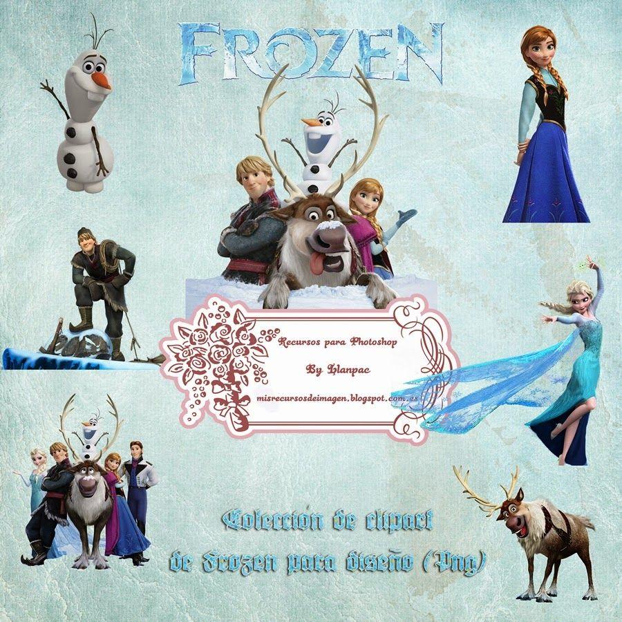 Recursos Photoshop Llanpac: Colección de clipart de Frozen para ...