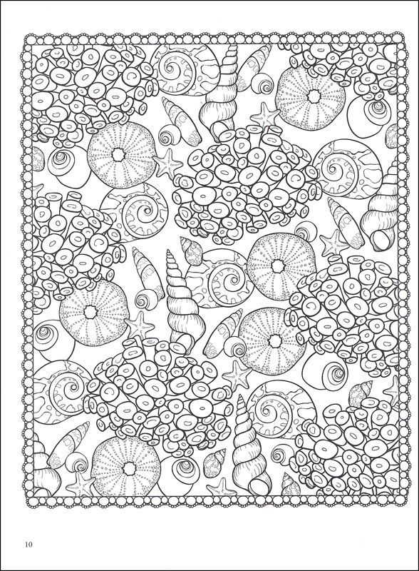 seashell patterns coloring book additional photo inside page