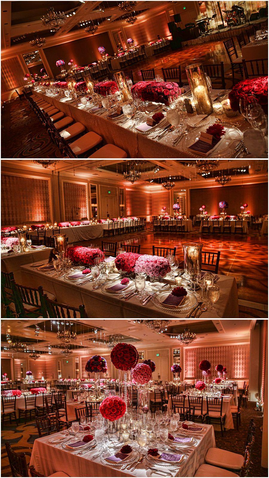 Tableart wedding rich jewel toned wedding venue four for Design hotel jewel