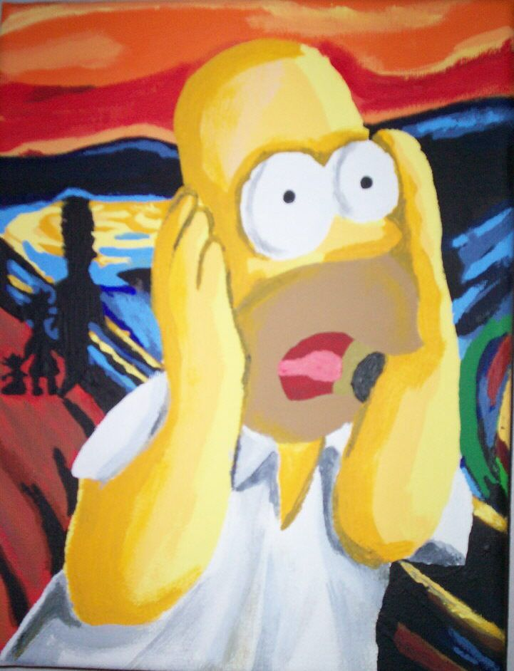 Simpsons Scream By Inspirational Dreams Deviantart Com On Deviantart The Simpsons Movie Art Parody The Simpsons