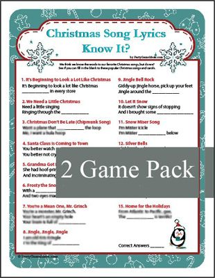 These Christmas Song Lyrics games always stump someone - Christmas