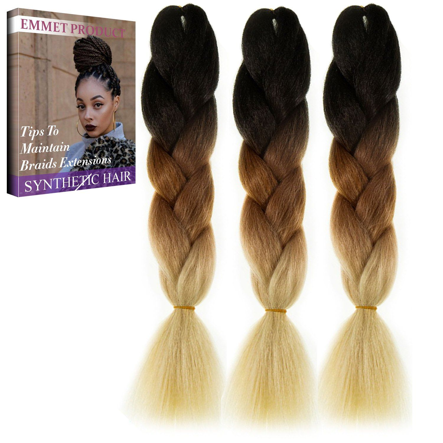Amazon Com Emmet Jumbo Braids Premium Quality 100 Kanekalon