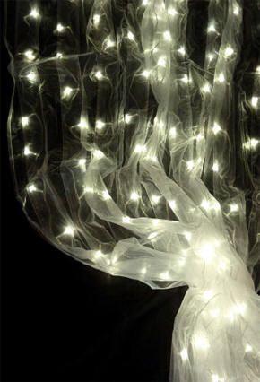 DECORATE MY WEDDING Organza LED Curtain