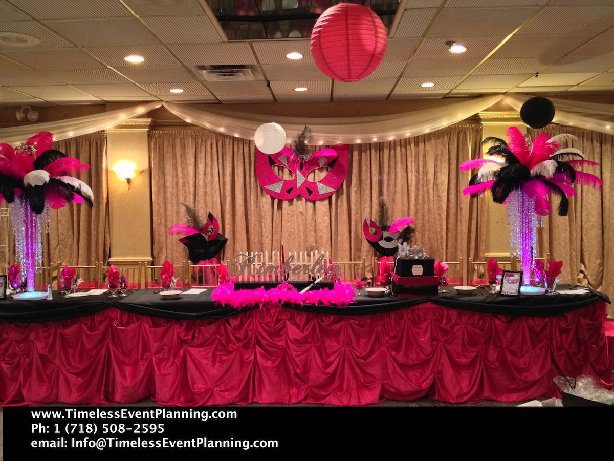 Masquerade Party Centerpieceskimberleymasqueradesweet16roma