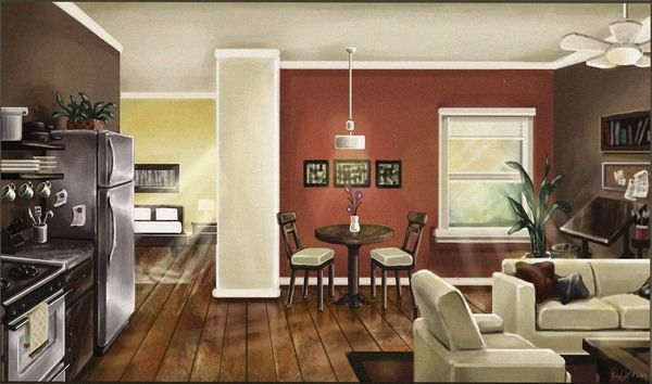 Paint Open Floor Plans By Selecting Areas Of Interest Not Wall Space