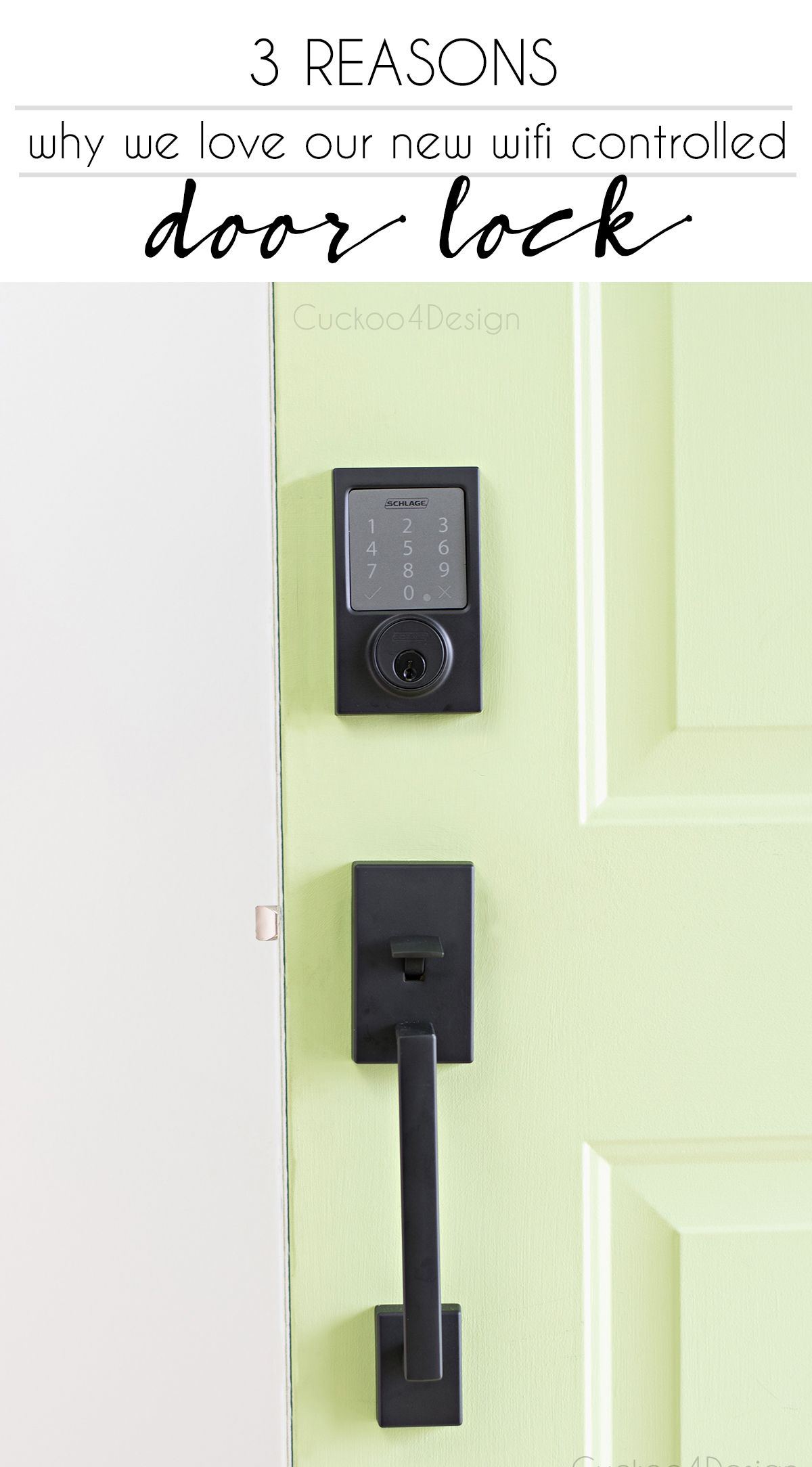 Our New Schlage Bluetooth Smart Door Lock Cuckoo4design Smart Door Locks Front Door Locks Door Locks