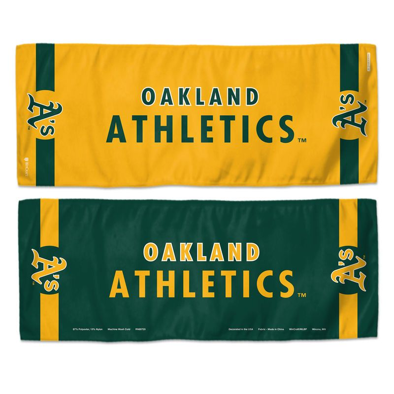 """Oakland Athletics WinCraft 12"""" x 30"""" Double-Sided Cooling Towel"""