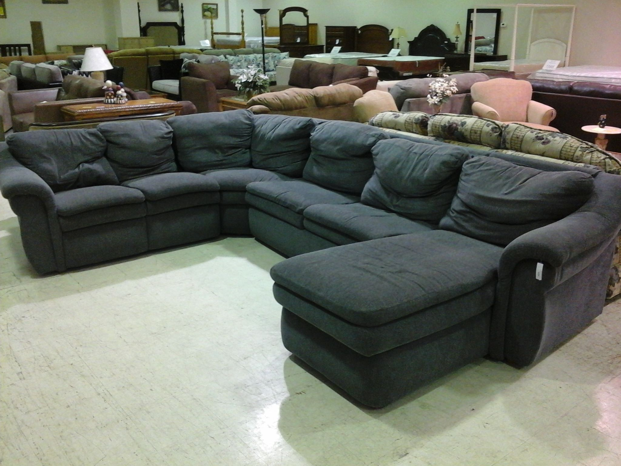 Microfiber Sectional Sofa With Sleeper : microfiber sectional sleeper sofa - Sectionals, Sofas & Couches