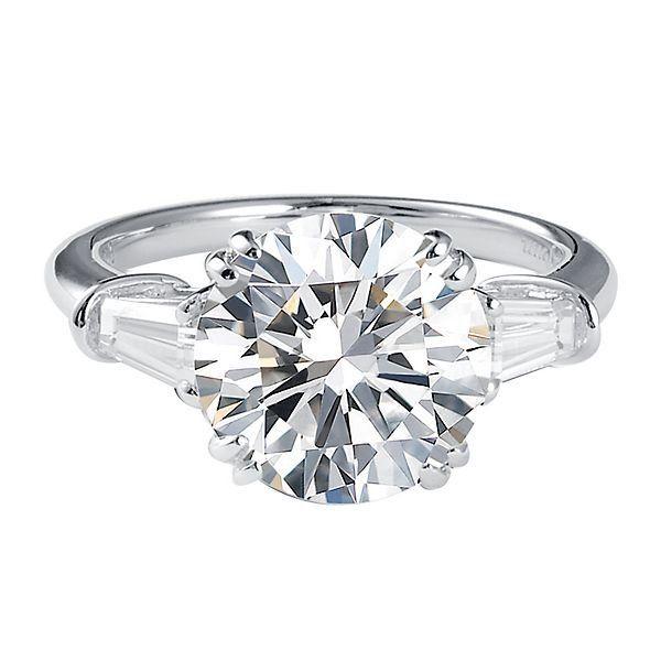 Diamonvita 4 1 2 Ct Tw Simulated Diamond Ring In Platinum Over Sterling Silver 2285359 Helzbe Helzberg Diamonds Simulated Diamond Rings Engagement Rings