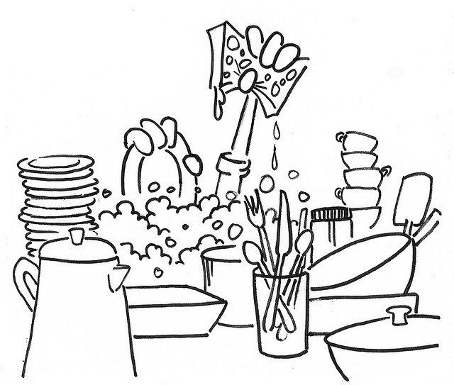 Estrogen Dominance Washing Dishes Coloring Pages Coloring For Kids