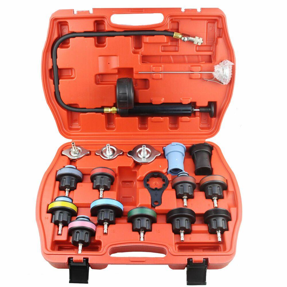 Ebay Advertisement Radiator Pressure Compression Tester Kit 18pc Cooling System Leak Detector Tool Radiator Leak