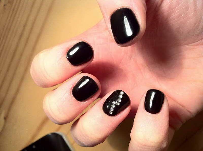 Cute shellac nail designs nails pinterest shellac nails nail designs with black polish prinsesfo Image collections