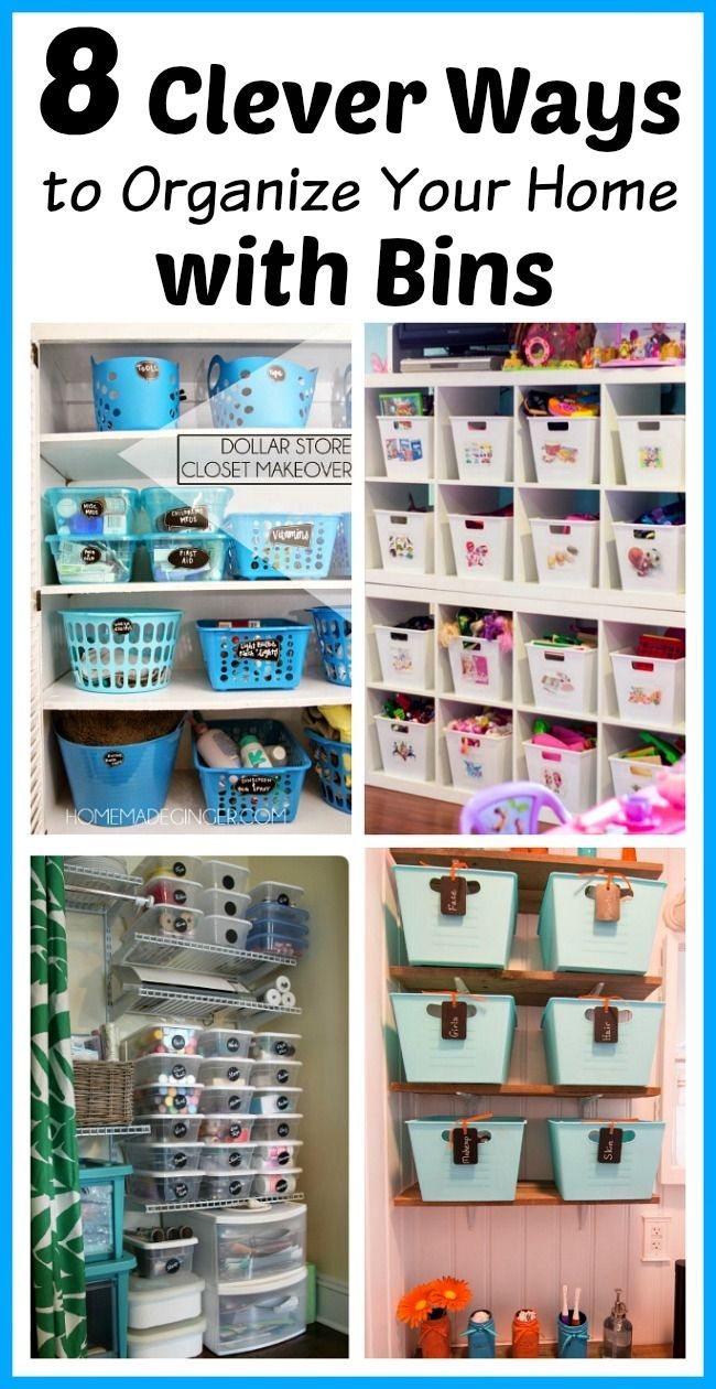 8 Clever Ways To Organize Your Home With Bins Organizing Your Home Home Organization Hacks Organization Hacks