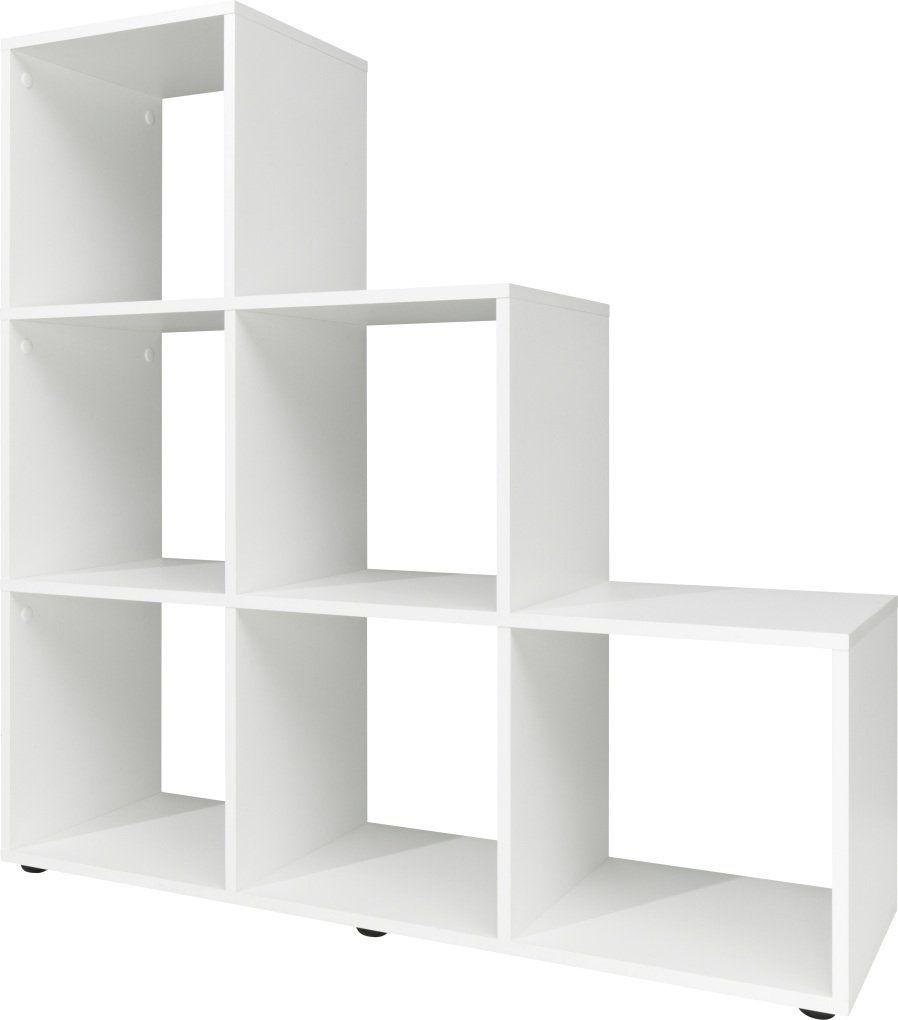 Stufenregal Holz Weia 32 X 105 X 106 Cm In 2020 Wooden Storage Shelves Shelving Unit Bookcase