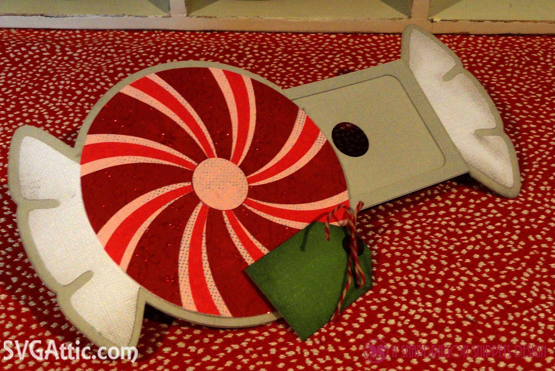 Peppermint hidden gift card holder from JGW Ho Ho Holiday