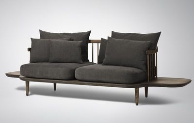 Canape Droit Fly Tradition Gris Bois Naturel Made In Design