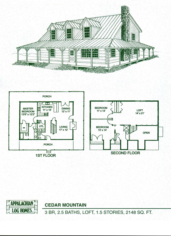 Log Home Package Kits   Log Cabin Kits   Cedar Mountain Model